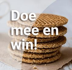 Beantwoord 6 korte vragen en win een Gouds genietpakket met stroopwafels en kaas t.w.v. €50,-